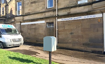graffiti removed from sandstone